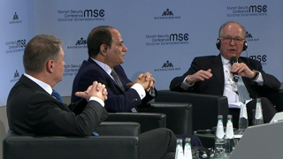 Munich Security Conference 2019: Statements by Abdel Fatah al-Sisi and Klaus Iohannis followed by Q&A